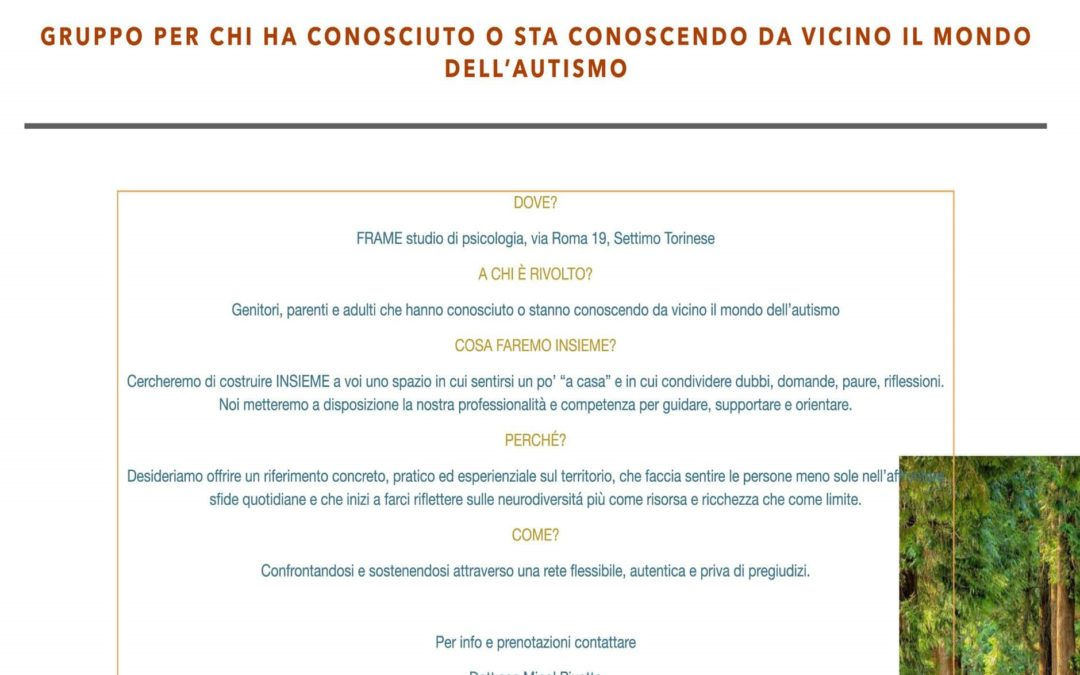 Brochure- Incontriamoci - Gruppi- Incontro - Autismo